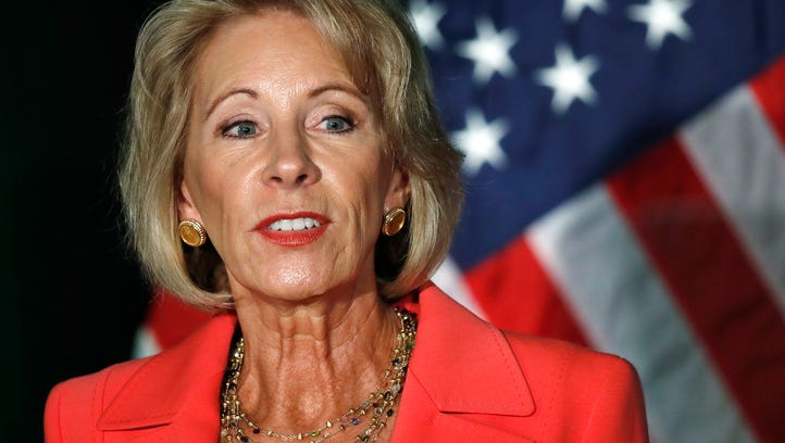 Education Secretary Betsy DeVos speaks about campus