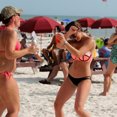 Spring Breakers from all over the country flocked to