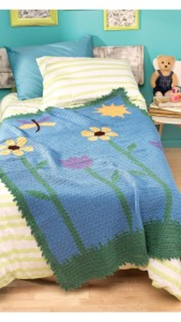 Reversible Color Crochet- Grandpa Kit's Garden beauty shot