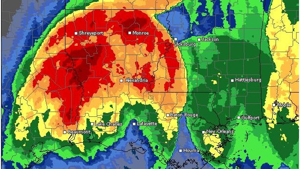 Rainfall for Louisiana over the past few days can be seen here.