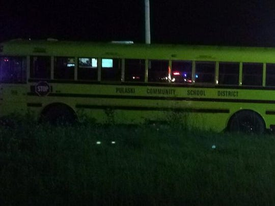 This bus carrying several dozen kids was returning from an athletic event when the accident occurred.