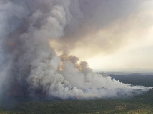 River Fire north of Phoenix grows to 4,800 acres on Tonto National Forest