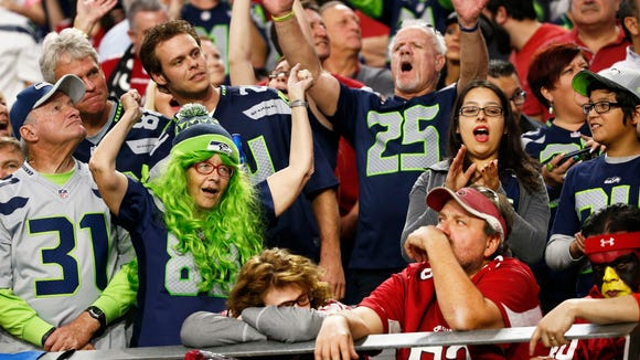 Arizona Cardinals fans take it from Seattle Seahawks