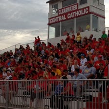 There was a sea of red to watch Clearwater Central Catholic beat  Naples Lely High on Friday.