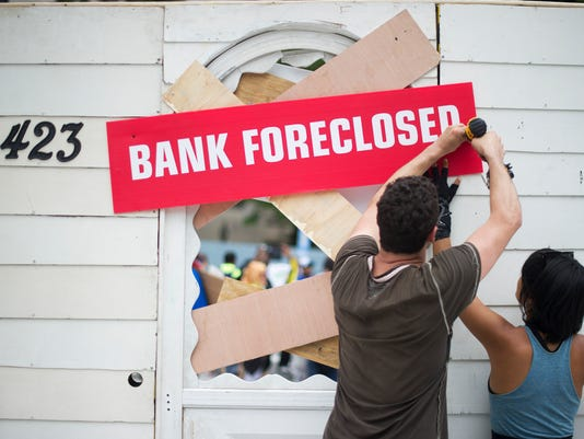US-ECONOMY-FORECLOSURES-PROTEST
