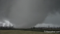 A screen grab of Monday's tornado in Manitoba was on