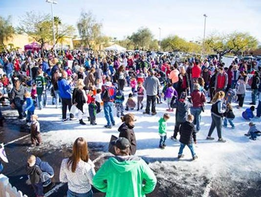 Snow Day at Desert Ridge Marketplace