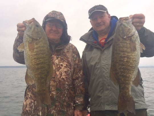 Bill Roth and Nate Grove on the Chequamegon Bay.