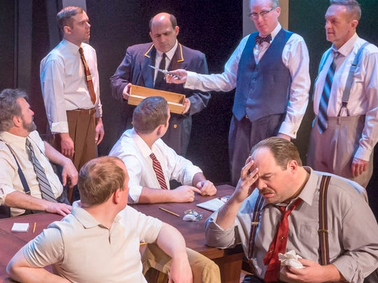 "Jurors hash things out in ""Twelve Angry Men"" through Feb. 21 at the Des Moines Community Playhouse."