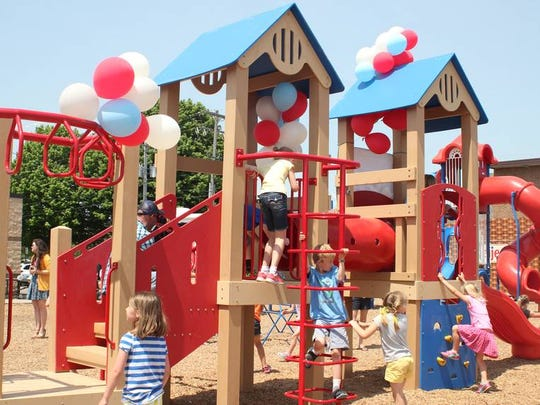 Students can compete for one of two recycled playgrounds for their school in the biggest contest in the history of the Colgate ShopRite Recycled Playground Challenge. Photo of a playground that was awarded last year that is similar to the ones we'll be awarding this year.