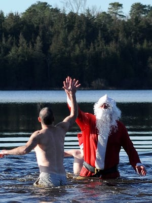 Join Santa for a Polar Plunge on Dec. 2 at Parvin State Park in Pittsgrove.