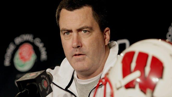 New University of Wisconsin football coach Paul Chryst.