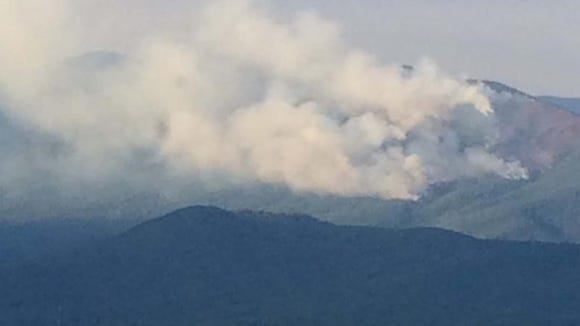 The Bald Knob Fire in Pisgah National Forest has grown