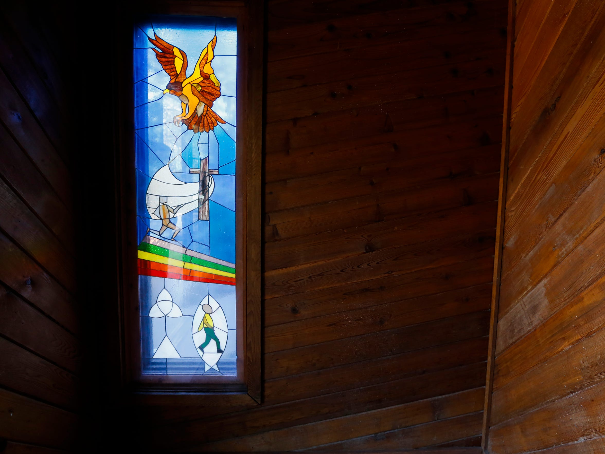 An example of some of the stained glass that was made