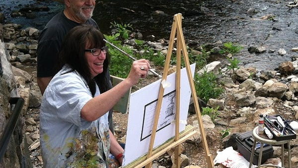 A recent plein air event at the museum.