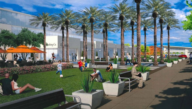 Scottsdale Entrada, a mixed-use project propsed at 64th Street and McDowell Road in Scottsdale, could bring offices, condos, shops and a hotel to the former site of five auto dealerships.