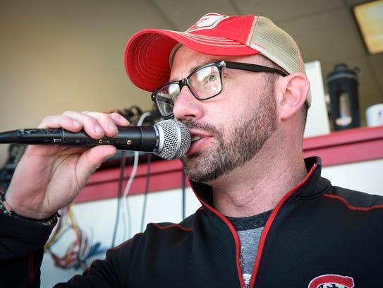 Announcer Chad O'Brien calls his first St. Cloud State