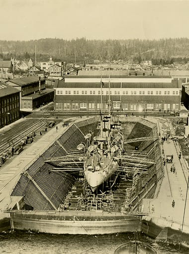 The Puget Sound Navy Museum will open up a new exhibit in July that showcases the photography of John Steen. He documented the early years of the Puget Sound Naval Shipyard.