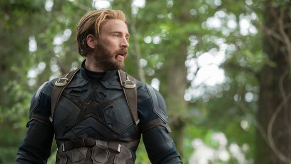 "Captain America (Chris Evans) has lost faith and trust in his superhero family as ""Avengers: Infinity War"" starts."