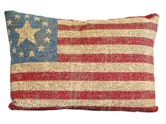 Star Spangled Pillow, set of 2, $228 at Luxe Home Interiors. For this story and more home and garden ideas, see the July issue of Pensacola Home & Garden, and go to www.PensacolaHG.com.