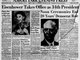 1953: Eisenhower takes office as 34th president. Noon