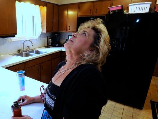 Rhonda Teague gargles Nystatin three to four times