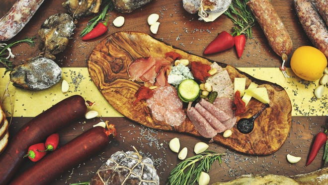 An charcuterie assortment cured by George Turkette and Troy Reed. The men launch Pig's Tale Charcuterie this fall in Indianapolis.
