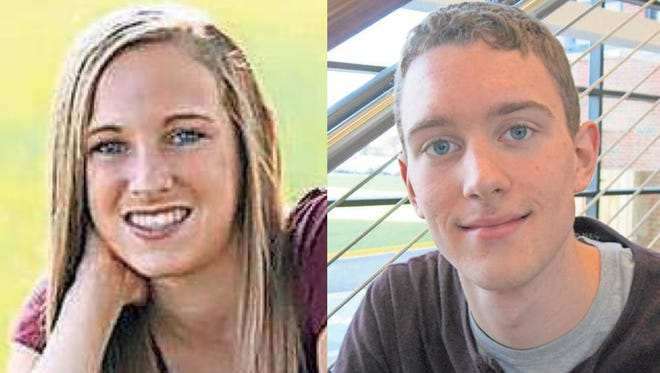 Nina Martini and Seth Glisczinski of Menasha High School are this week's top scholars.