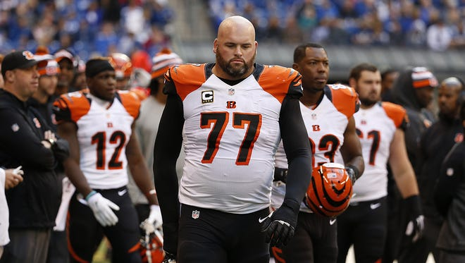 Bengals offensive tackle Andrew Whitworth was down late in the fourth quarter of Sunday's 27-0 loss to the Indianapolis Colts, but warned against panicking.