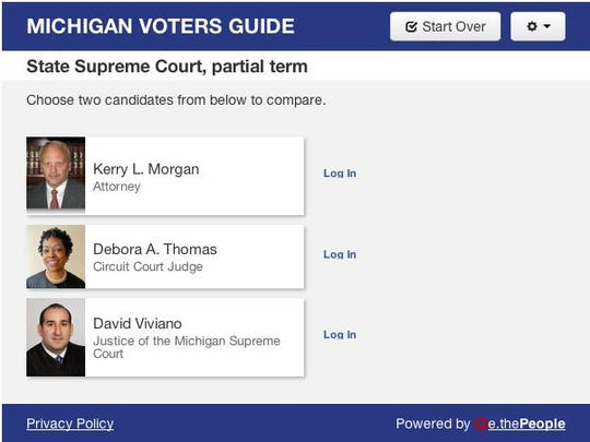 Learn more about the candidates from the Michigan Voters
