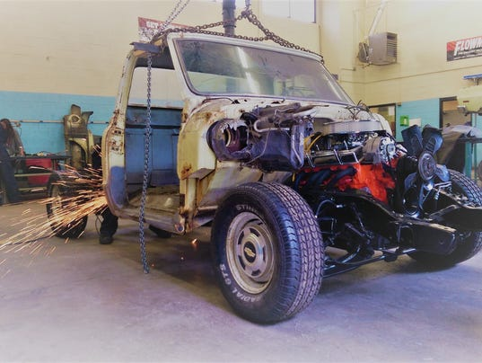 Chevy restoration project at Ruidoso High