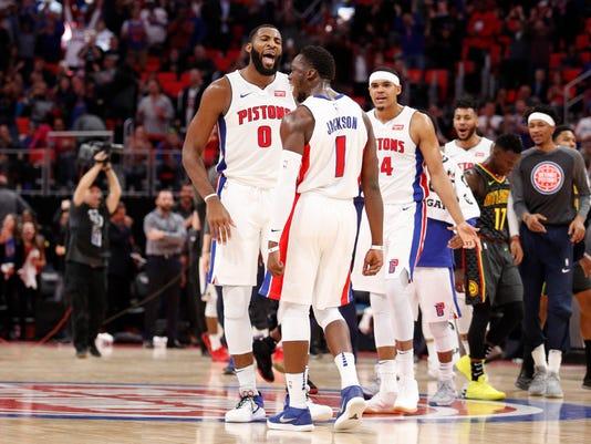 USP NBA: ATLANTA HAWKS AT DETROIT PISTONS S BKN DET ATL USA MI