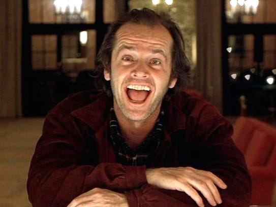 Jack Torrance (Jack Nicholson) has fallen off the wagon