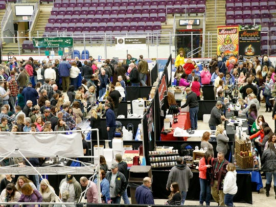 Hundreds packed First Arena in Elmira for the 15th annual Wine on Ice Saturday. The two day event was nearly sold out as of Saturday afternoon.