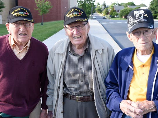 Brothers Harold Angle, 93, left, and Glenn Angle, 96,