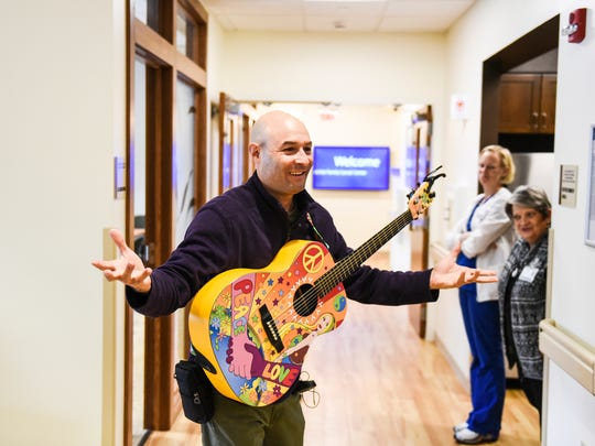 Charlie Lustman, a singer and songwriter who was diagnosed with bone cancer in his upper jaw, travels the across the United States singing his songs to other people fighting cancer.