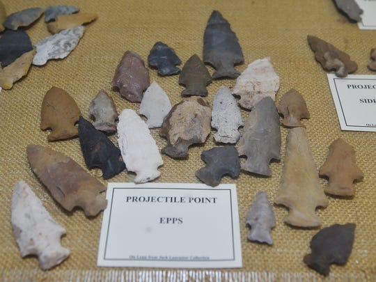 Projectile points and many other Native American artifacts dating back thousands of years can be seen at the Jaketown Museum in Belzoni.