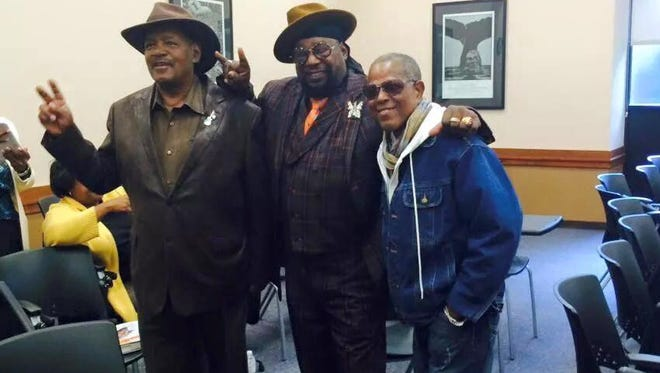 """Ron Ford, George Clinton and Billy """"Bass"""" Nelson of Parliament Funkadelic"""