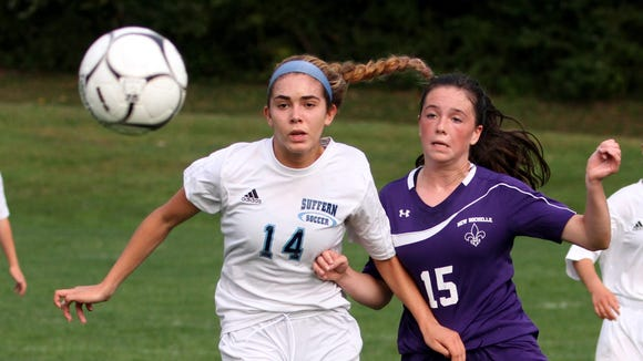 Suffern's Tatiana Cruz and New Rochelle's Nora Fitzgerald