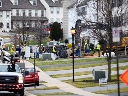 A gas leak on the 2700 block of Woodmont Drive in  Manchester Township prompted the evacuation of about 80 homes Wednesday.
