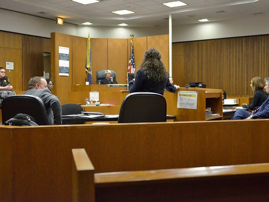 The trial of Ann Zarras, in the courtroom of Judge