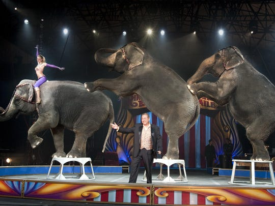 Last chance to see the live elephant show at Garden Bros Circus Wednesday in Punta Gorda