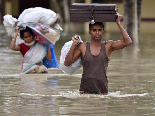 INDIA-FLOODS-MONSOON