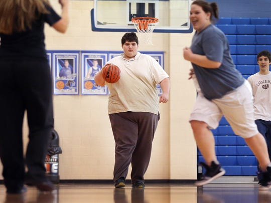 Eric Ekis, a freshman at Franklin High School, started high school weighing in  around 500 pounds. Thanks to the help of teachers Don Wettrick and Lesleigh Groce, he has started to exercise more and has started better eating habits.