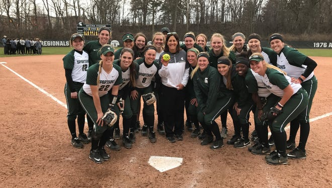 Michigan State softball coach Jacquie Joseph won her 650th game as the Spartans' head coach Wednesday. They beat Western Michigan, 7-2.