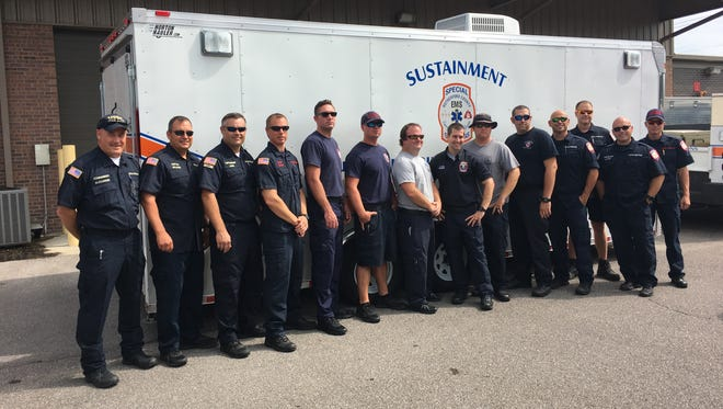 Murfreesboro Fire Rescue Department staff prepares to deploy to Texas to assist in relief efforts after severe flooding from hurricane Harvey.