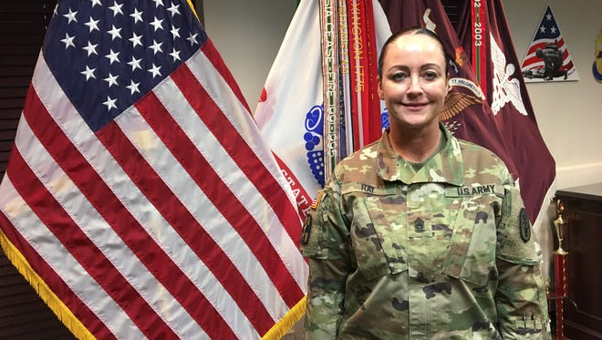 Command Sgt. Maj. Janell Ray is the new senior enlisted leader at William Beaumont Army Medical Center. She helps to lead a staff of about 4,000 soldiers, civilians and contractors at the Army hospital.