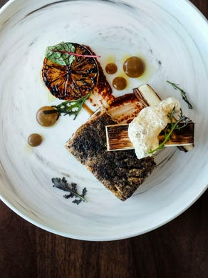 Esker Grove's food is flavorful and appropriately artistic.
