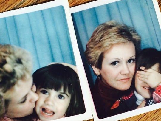 Lisa Sarmento, 4, with her mom, Diane Adams, the inspiration