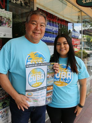 Mark Murakami and his daughter, Megan Murakami, are looking for volunteers to help welcome Mid-Valley residents to the 19th annual World Beat Festival coming up June 25-26.